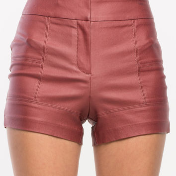 Adrienne Coated Shorts
