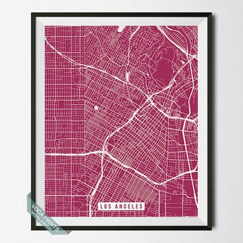 Los Angeles Print, California Poster, Los Angeles Poster, California Print, Street Map, Map Print, Home Decor, Wall Art, Back To School