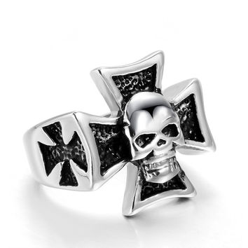 Ghost Era - Skull Cross Ring - Silver
