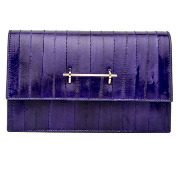 Purple Eel Sofia Shoulder Bag