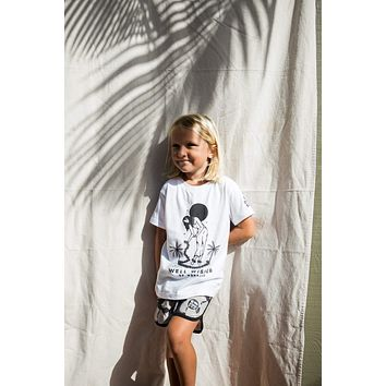 Kid's Well Wisher Tee in White