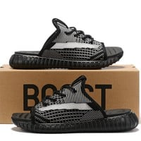 adidas Yeezy Black White Sandals Slippers Sliders Summer Shoes Flip Flop - Best Deal Online