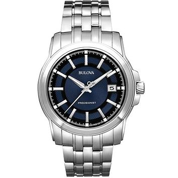 Bulova Mens Langford Precisionist - Stainless - Midnight Blue Dial - Bracelet