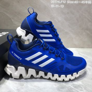 AUGUAU A471 Adidas Terrex High Frequency Breathable TPU Vamp Running Shoes Blue White