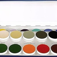 Kryolan Aquacolor 24 Colors Wet Makeup Palette 1108 AC