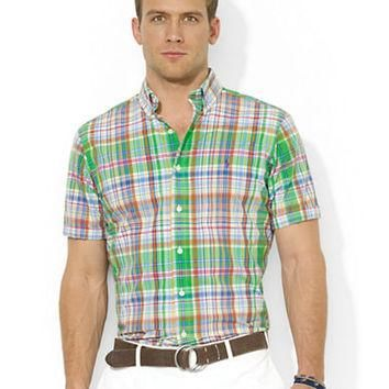 Polo Ralph Lauren Classic-Fit Short-Sleeved Plaid Poplin Sport Shirt