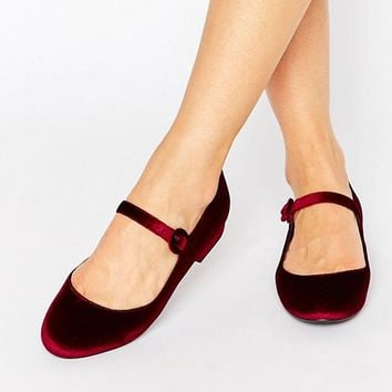 New Look Velvet Mary Jane at asos.com