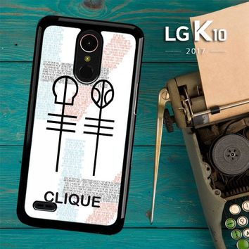 Twenty One Pilots Skeleton Clique X3438 LG K10 2017 / LG K20 Plus / LG Harmony Case