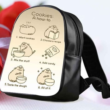 Pusheen the Cat cookies for Backpack / Custom Bag / School Bag / Children Bag / Custom School Bag **