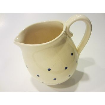 Polka Dots Ceramic Pitcher Cream Jug With Signature