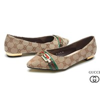 GUCCI Women Fashion Pointed Toe Low Heels Shoes