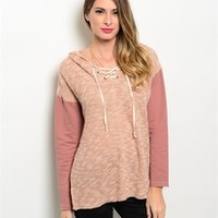 Tie It Up Sweater- Blush from shopoceansoul