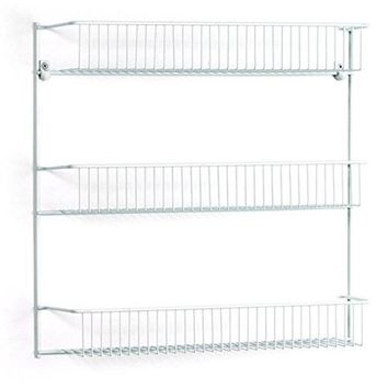 ClosetMaid® 802200 Metal Frame 3-Tier Wall Rack, Epoxy Coated Steel, White, 18""