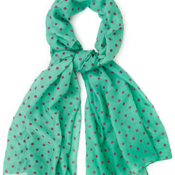 Dots to Discuss Scarf in Mint