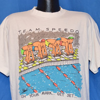 90s Team Speedo Swimming t-shirt Large