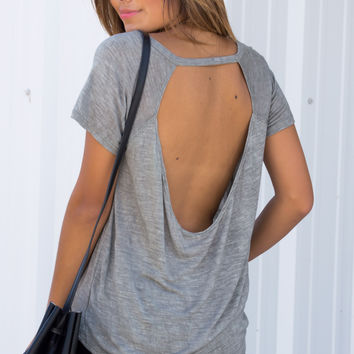 Window Back Raglan Tee - Sliver/Sage