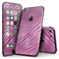 Glamorous Pink Toned Zebra - 4-Piece Skin Kit for the iPhone 7 or 7 Plus