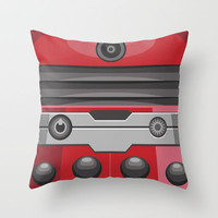 Dalek Red - Doctor Who Throw Pillow by Alex Patterson | Society6