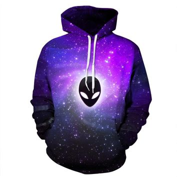 New Fashion Men/women Hooded Hoodies With Hat Print Extraterrestrial Autumn Winter Thin Space Galaxy 3d Sweatshirts
