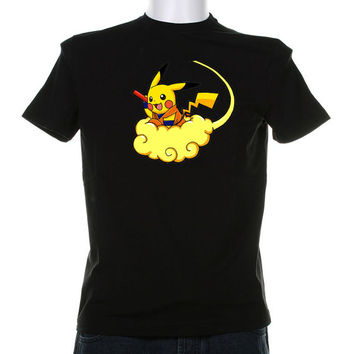 Pikachu Goku on Cloud Pokemon Dragon Ball Z DBZ Shirt