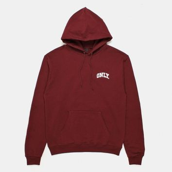 Buy ONLY NY Varsity Champion Pullover Hoody - Maroon from Urban Industry | Urban Industry
