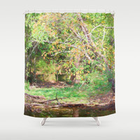 Hickory Ridge Pond Shower Curtain by Theresa Campbell D'August Art