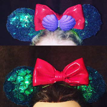 Ariel Inspired Mermaid Mouse Ears