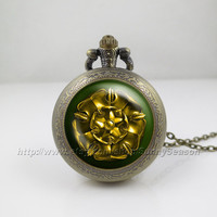 Game of thrones Pocket Watch,Game of thrones house tyrell crest Pendant Necklace, a song of ice and fire Locket necklace,Pocket Watch