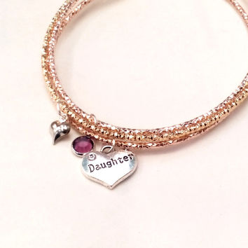 personalized daughter bracelet gift for daughter present soul daughter jewelry daughter jewellery personalised gift for daughter mother
