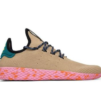 "adidas Originals x Pharrell Williams ""Tennis HU"" TAN BY2672"