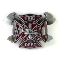 Mens belt buckle fire dept firefighters BIG buckle metal fivela cowboy interchangeable metal fashion buckle belt Accessories