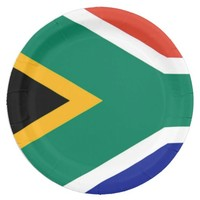 South Africa flag 9 Inch Paper Plate