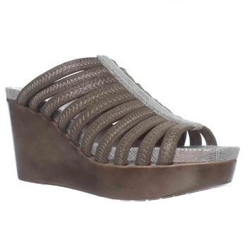 Donald J Pliner Jackie Platform Wedge Sandals - Light Bronze