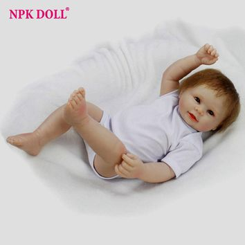 50cm Limited Handmade Reborn Baby Dolls Alive Boy Baby Dolls Full Body Silicone Complete Vinly Boneca BeBe Reborn Collections
