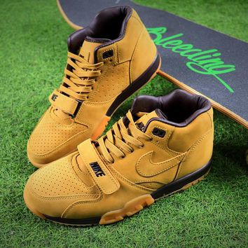 Nike Air Trainer 1 Mid Premium NSW Nubuck leather Flax Basketball Shoes