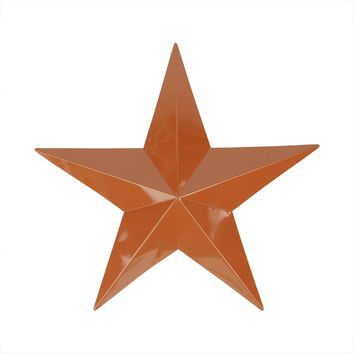 """24"""" Light Copper Brown Country Rustic Star Indoor-Outdoor Wall Decoration"""