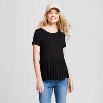 Women's Short Sleeve Peplum T-shirt - Mossimo Supply Co.™