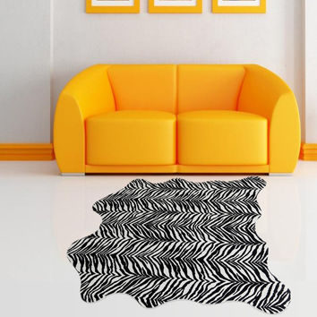 Warm Creative Zebra Print Living Room Animal Carpet = 4883601284