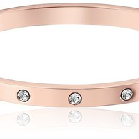 kate spade new york Set In Stone Stone Hinged Clear/Rose Gold Bangle Bracelet