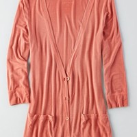AEO Women's Soft & Sexy Cardigan (Coral)