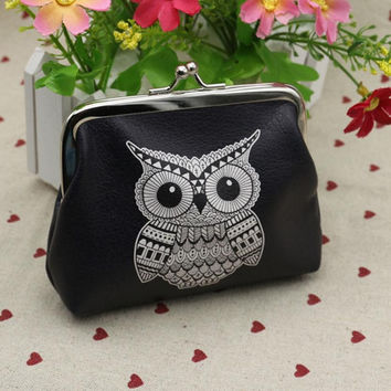 Hot On Sale Wallets For Womens Owl Elephant Pattern Female Wallet Card Holder Coin Purse