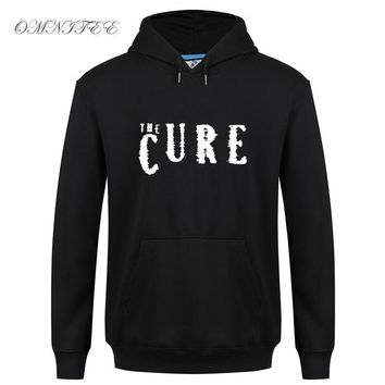 The Cure Sweatshirts Autumn Cotton The Cure Hoodies Men Fleece Zipper Rock Band Boys Don't Cry Jacket Coat Hoody