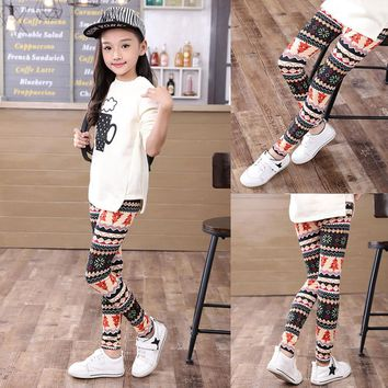 Printing Leggings Flower Baby Kids Girls Pencil Pants