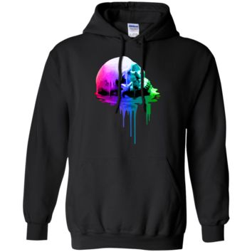 melting skull with vibrant colors halloween T-Shirt
