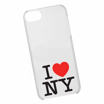 iphone case,I LOVE NY clear,iphone 5 case,iphone 4/4s case,samsung s3,s4 case,accesories,cell phone,hard plastic.
