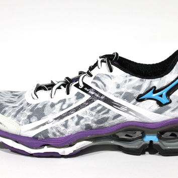 Mizuno Women's Wave Creation 15 White/Blue/Purple Running Shoes