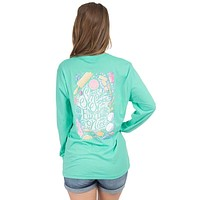 Sugar and Spice Long Sleeve Tee in Seafoam by Lauren James