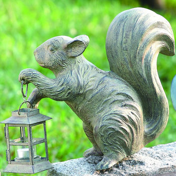 SPI Outdoor Collection Aluminum and Iron Squirrel Lantern