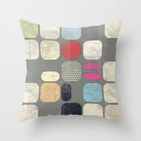 Patchwork IV Throw Pillow by Metron