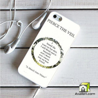 Pierce The Veil Song Lyrics iPhone 5|5S Case by Avallen